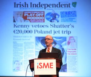 Conall Ó Móráin speaking at the ISME Annual Conference