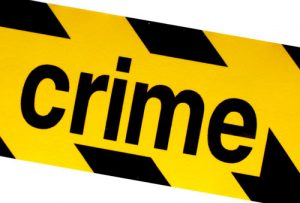 Yellow and Black Crime Sign