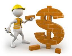 stick figure builder putting bricks on brick dollar