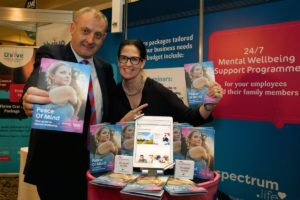 ISME CEO Neil McDonnell with Sinead Proos, Head of Wellness, Laya Healthcare
