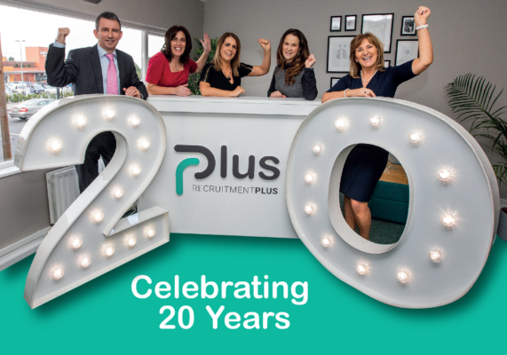 Change is here, exciting times for RecruitmentPlus as they celebrate their 20th Anniversary