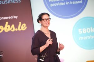 Laya's Head of Wellness, Sinead Proos discussing Workplace Wellness at the ISME Annual Conference on 23rd October 2019